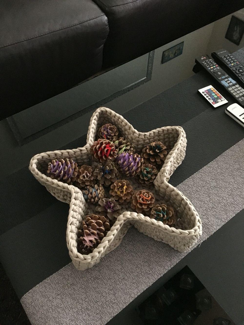 Deko Korb Stern Häkeln Pinterest Crochet Crochet Bowl Und