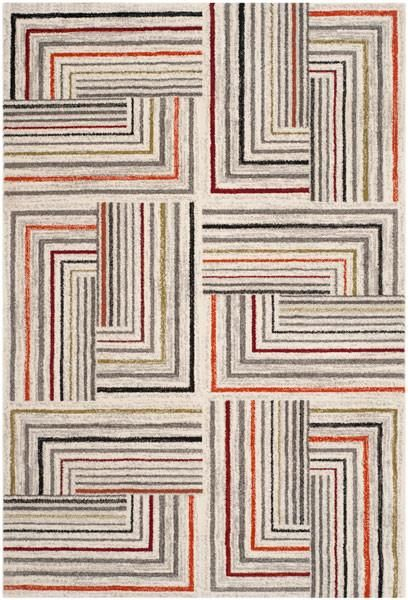 Safavieh Porcello Prl3740c Ivory Grey Rug In 2021 Area Rugs Contemporary Geometric