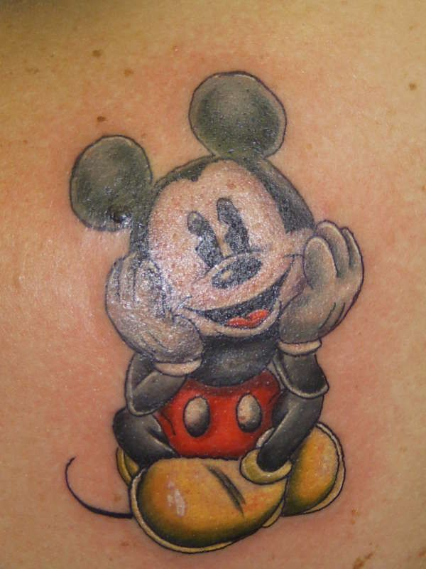 755b15f6dec40 Vintage Mickey Mouse tattoo - I would TOTALLY get this!!! | Tattoos ...