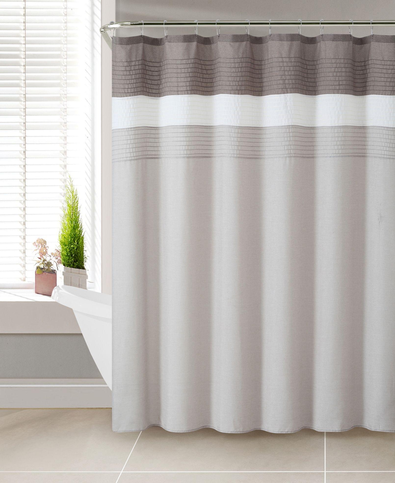 Colormate Regan Shower Curtain Taupe Beige Tan Grey
