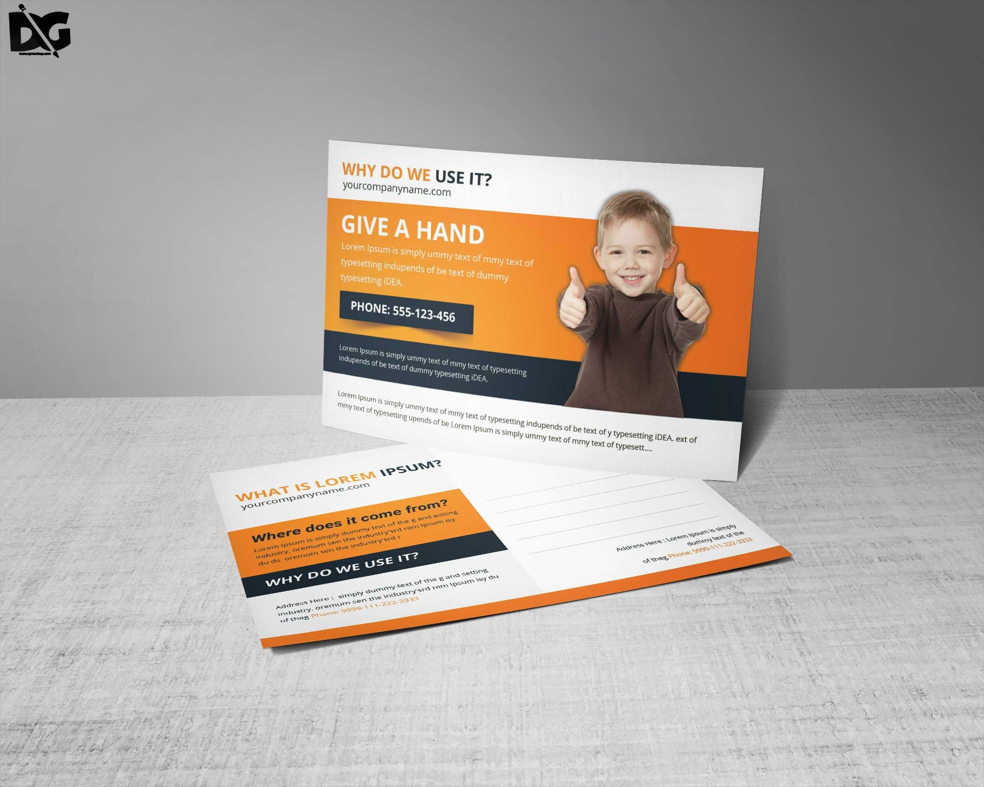Free Download Child Charity Premium Postcard Template Downloadpsd Downloadtemplate Postcard Post Postcard Template Free Children Charity Postcard Template