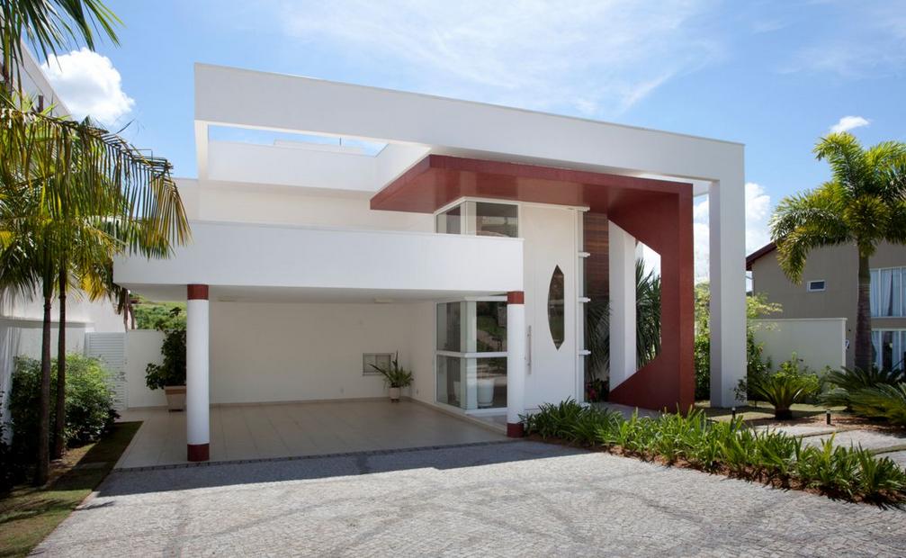 Fachadas casas modernas 2 andares luxo mans es esculturais for Fachadas de casas modernas pequenas de 2 pisos