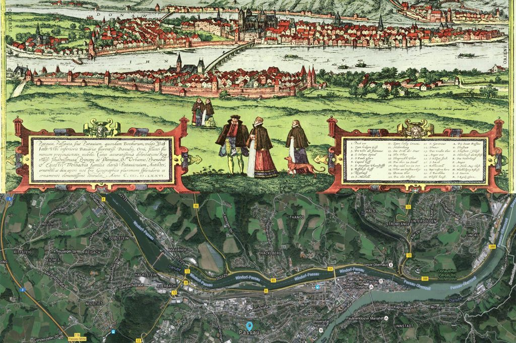 Passau Germany Map Then And Now Maps Pinterest - Germany map then and now