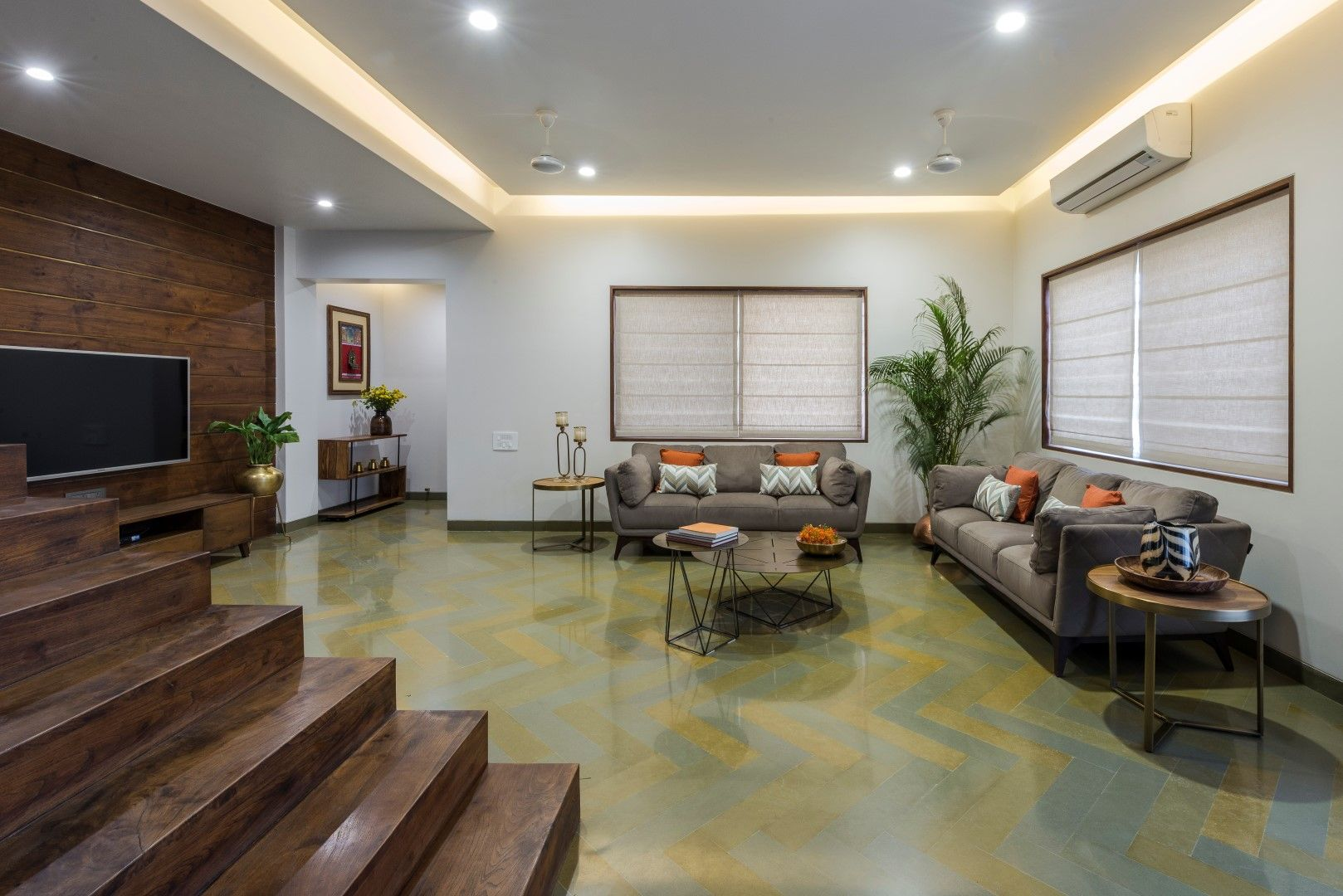 Succinct And Simple Bungalow Design Of Vadodara Studio Yamini The Architects Diary Bungalow Design Bungalow Interiors Modern Interior Design
