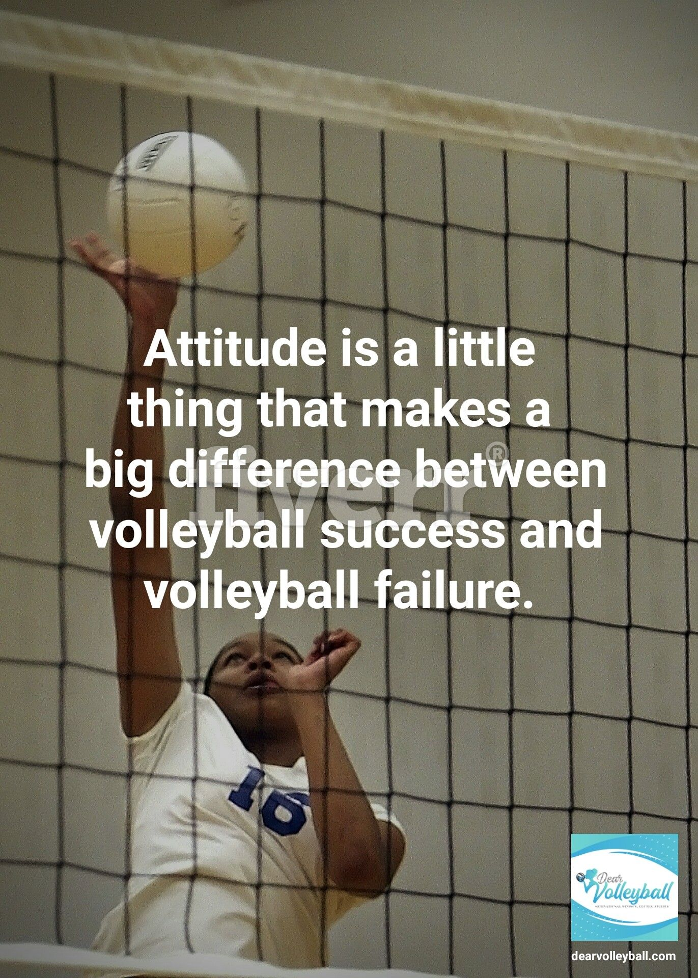Attitude Is A Little Thing That Makes A Big Difference Between Volleyball Success And Volleyball Failure And 75 Oth Motivation Sport Quotes Motivational Quotes