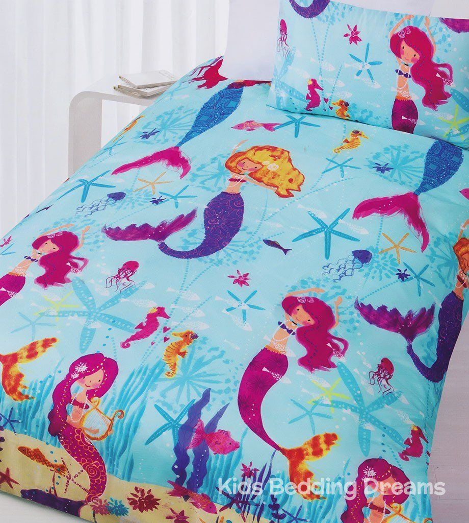 Mermaids Quilt Cover Set Mermaid Bedding Mermaid Quilt