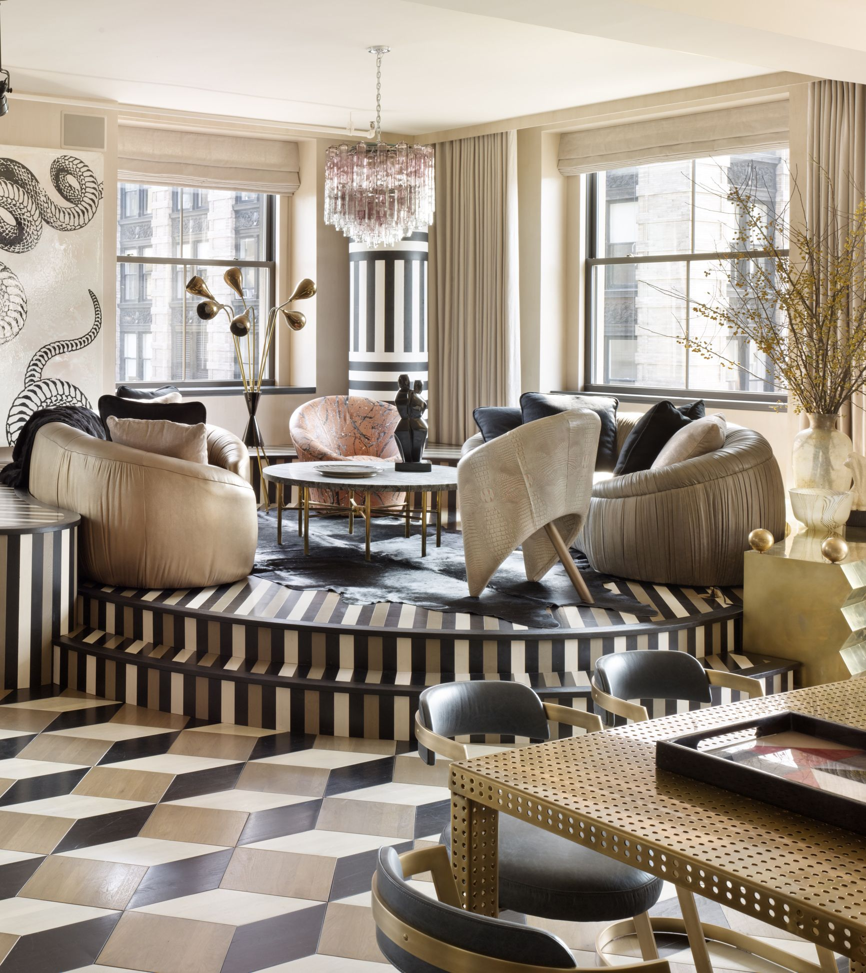 Kelly wearstler interiors spring street residence new for Interior design inspiration new york