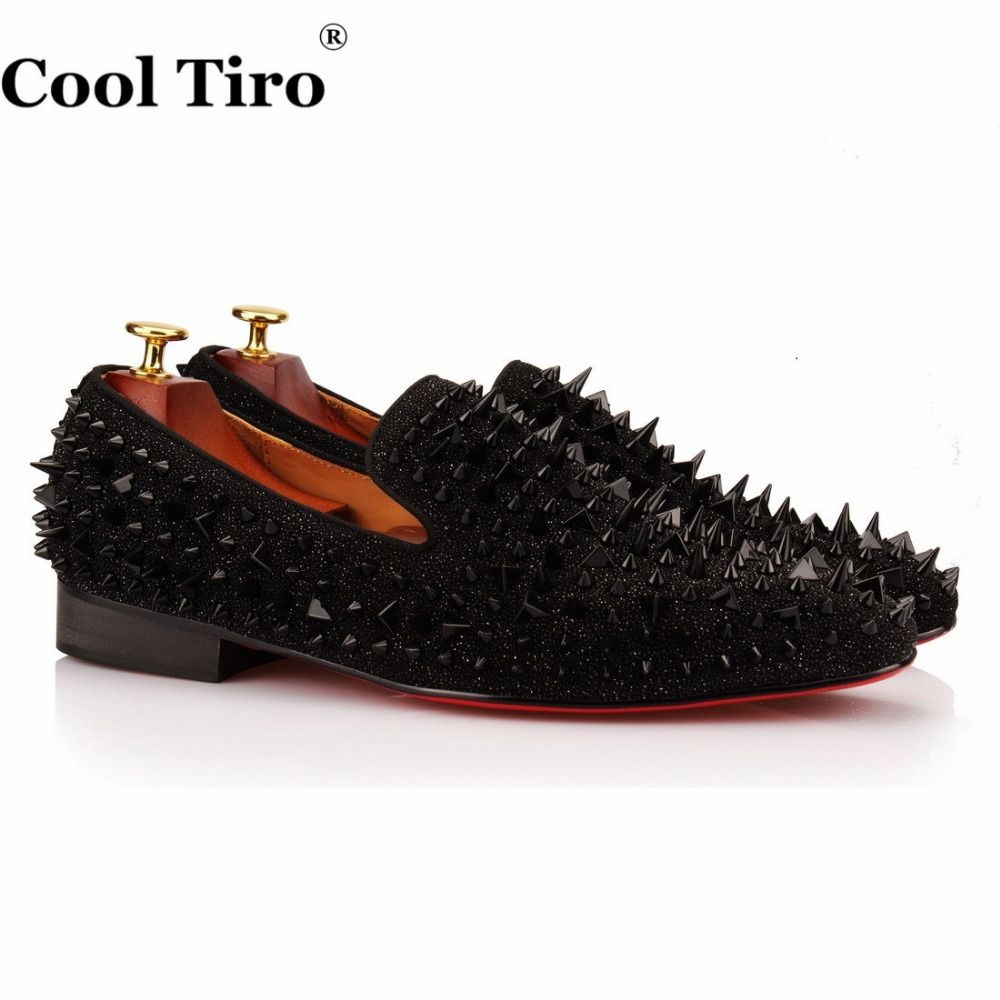 38 Off Cool Tiro New Handmade Black Suede Miscellaneous Nail Spike Men Red Bottom Luxury Handmade Fashion Shoes Men Fashion Shoes Mens Fashion Shoes Shoes [ 1000 x 1000 Pixel ]