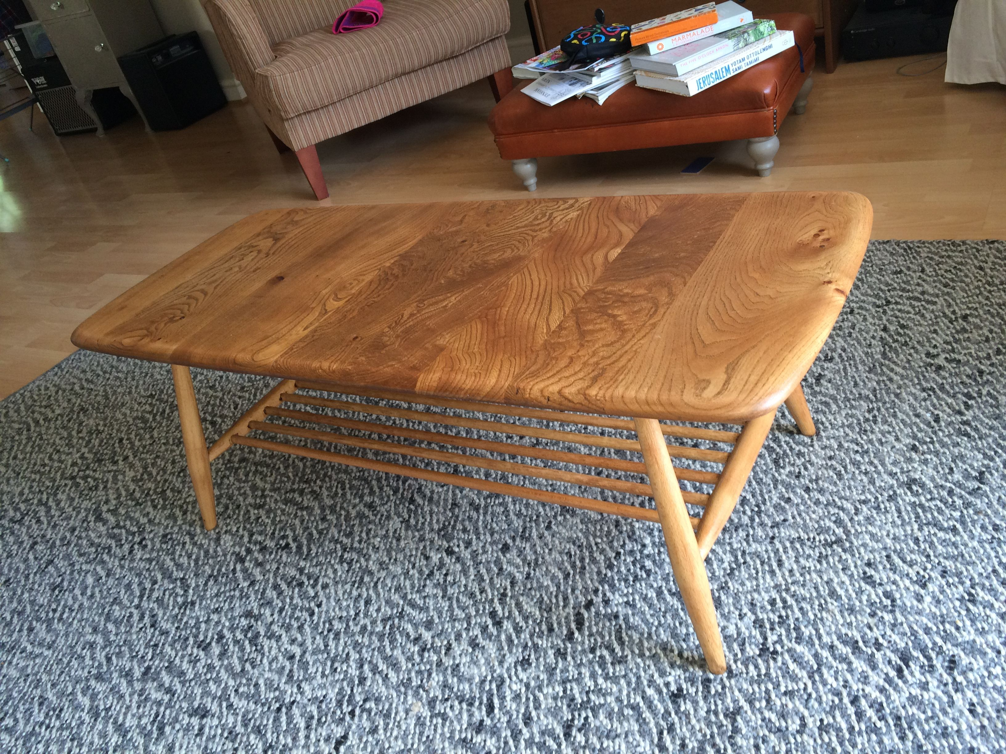 Ercol coffee table lovingly stripped of the dark lacquer and
