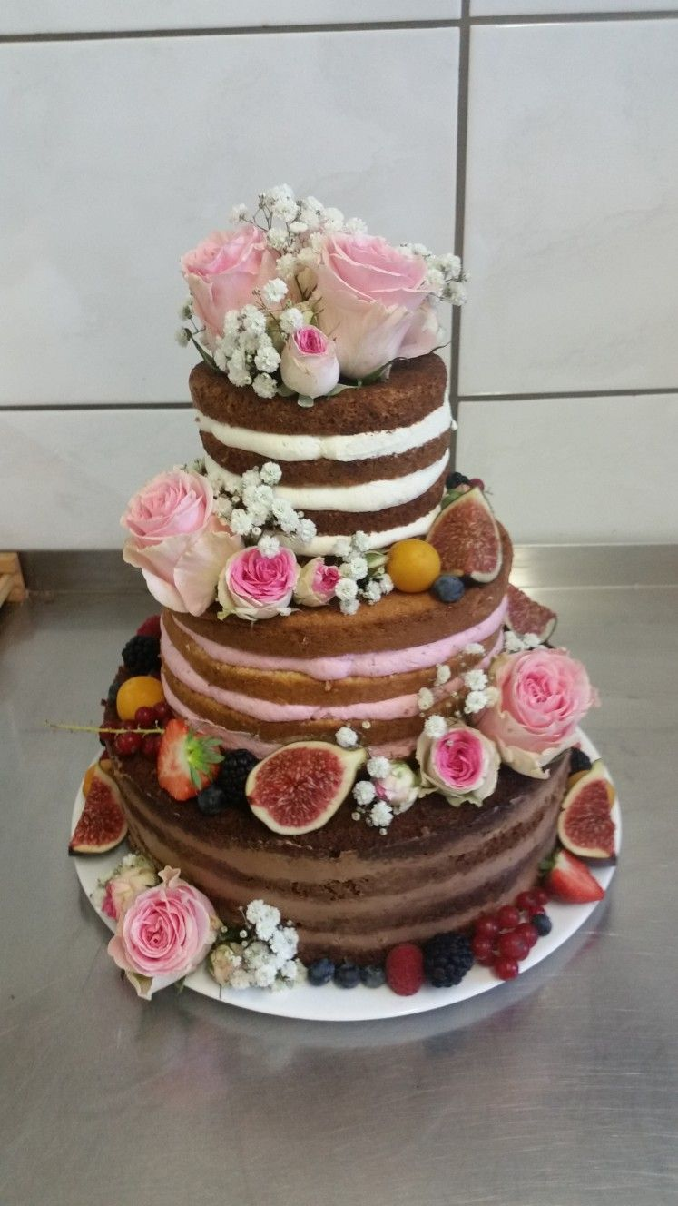 Naked Cake Hochzeitstorte Ohne Fondant Rustikal Vintage