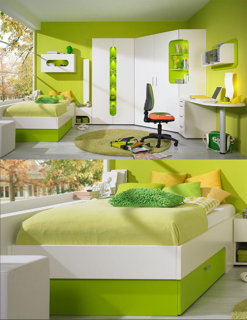 Leuchtendgrünes Jugendzimmer Max I | Im Frischen Look überzeugt Das  Jugendzimmer Max I Jeden Seiner Besucher Im Handumdrehen. #greenery  #Pantone #Farbe ...