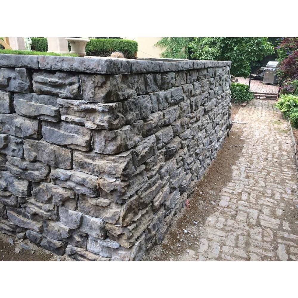 Natural Concrete Products Co Pantheon 6 In X 16 In X 12 In Concrete Limestone Retaining Wall Full Block Fgfblock The Home Depot Retaining Wall Garden Wall Home Fencing