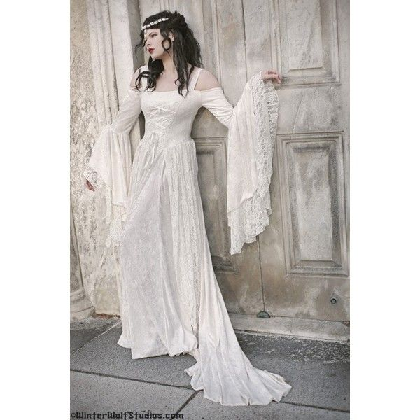 Gwendolyn Medieval or Renaissance Wedding Gown Velvet and Lace ...