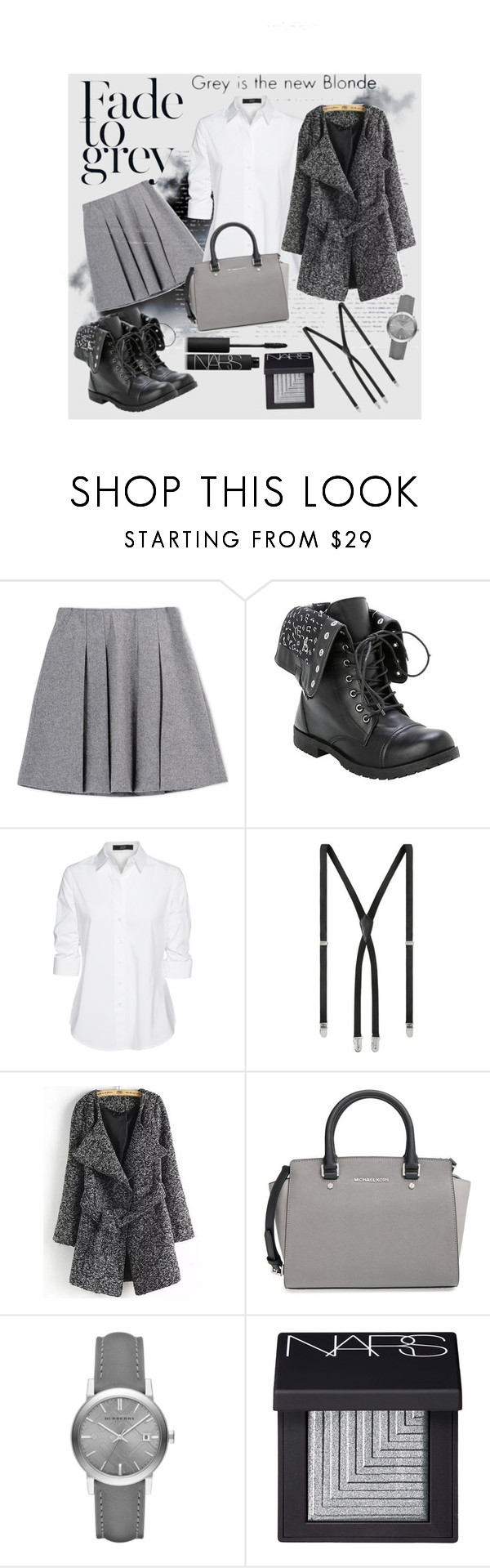 """""""Grey day"""" by ina-kis ❤ liked on Polyvore featuring moda, Fall Winter Spring Summer, Dansk, Steffen Schraut, Yves Saint Laurent, MICHAEL Michael Kors, Burberry y NARS Cosmetics"""