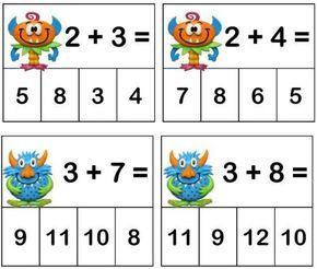 Trouver le résultat d'additions | Jeux mathématiques, Mathématiques à l'école maternelle et Jeux ...