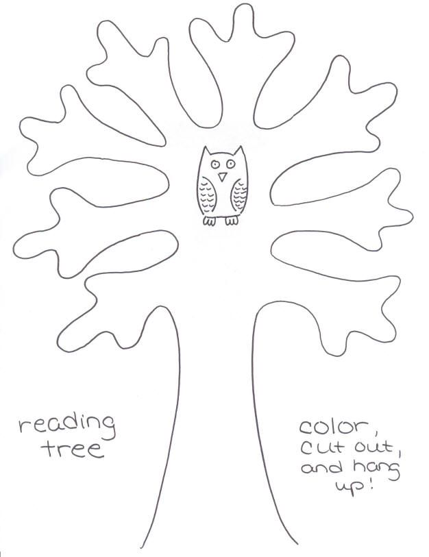 Camp Cindythings Make a Reading Tree!!!