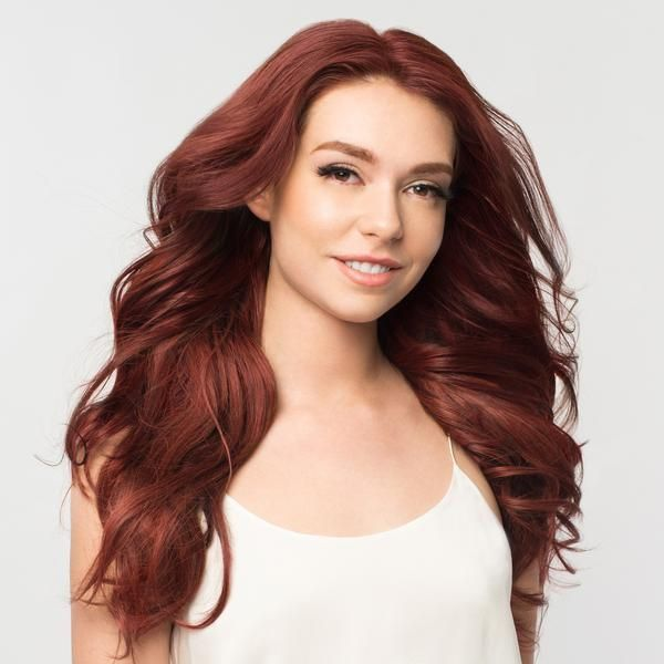 Clip In Hair Extensions Vibrant Auburn Color 33 220 Grams Luxy