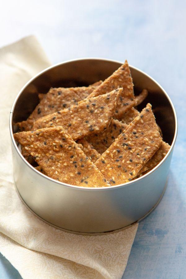Crackers maison au sésame