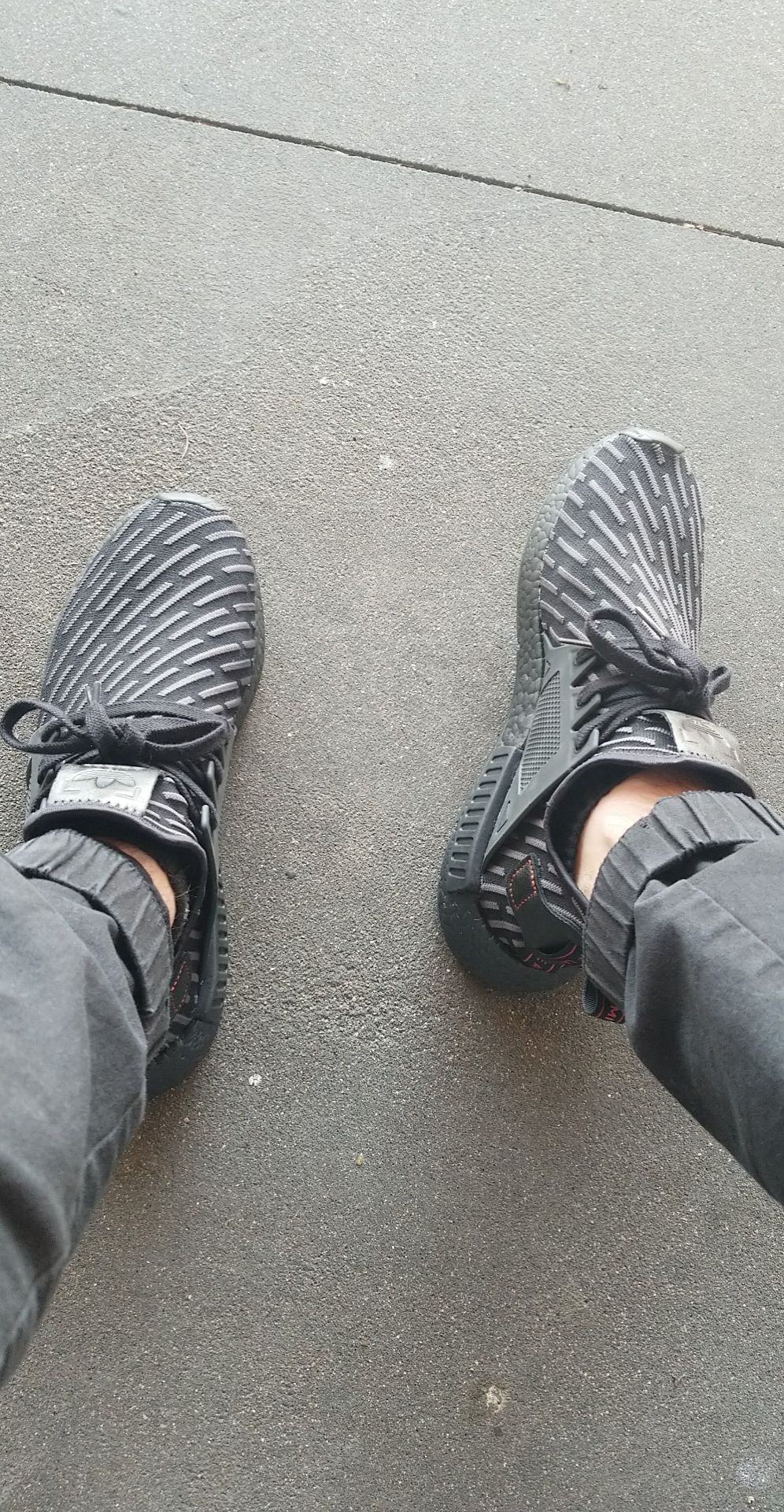 aa81113e13a06 WDYWT] Triple black NMD XR1 (dirty campus edition)   Nike Sneakers ...