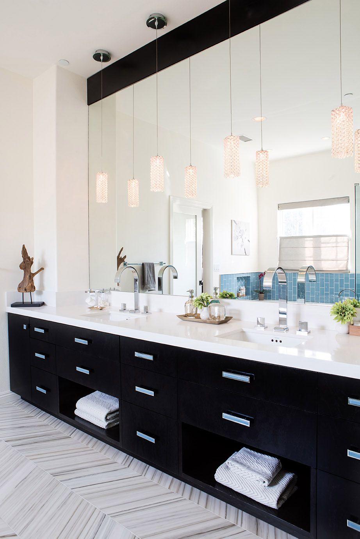 Walker Zanger Helsinki chevron floor tile -High-end Bathroom By ...