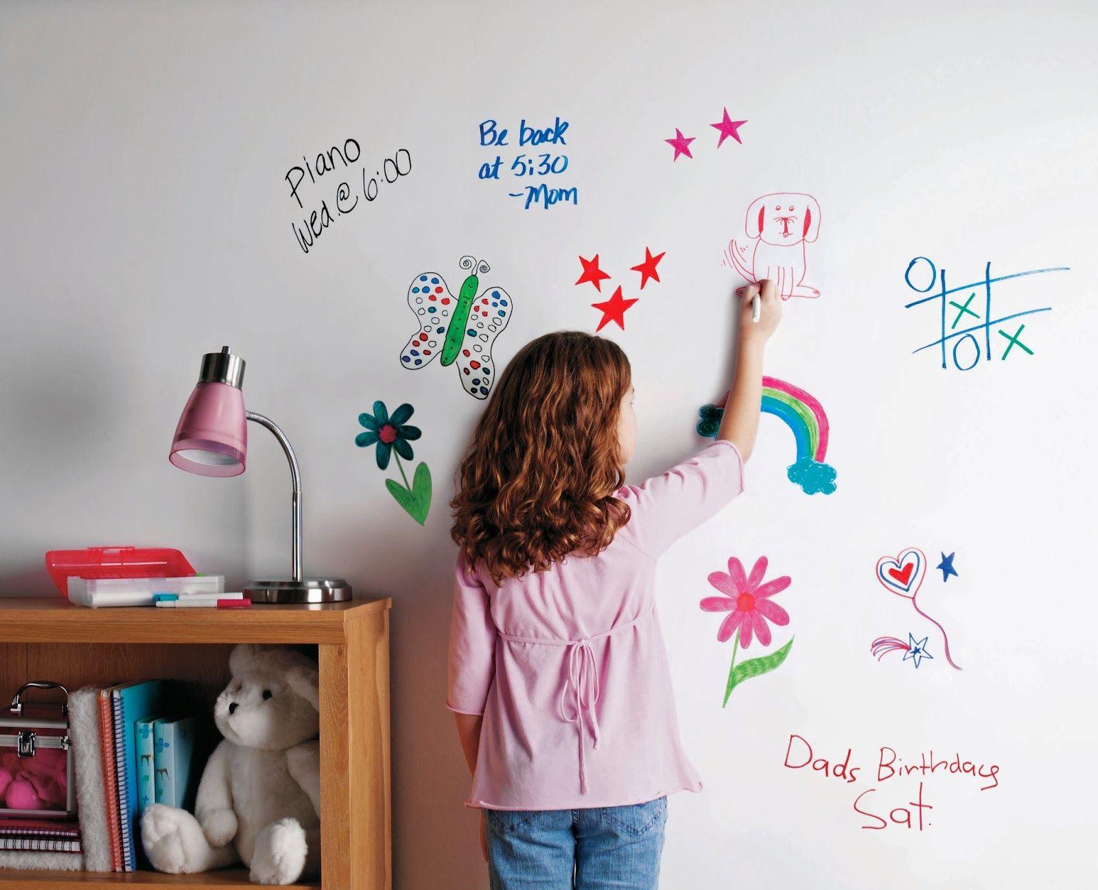 Маркерная краска для стен: необъятный простор для творчества и 65+ лучших вариантов исполнения http://happymodern.ru/markernaya-kraska-dlya-sten-foto/ Окрасив стены или мебель маркерной краской, вы сможете рисовать на них как на маркерной доске