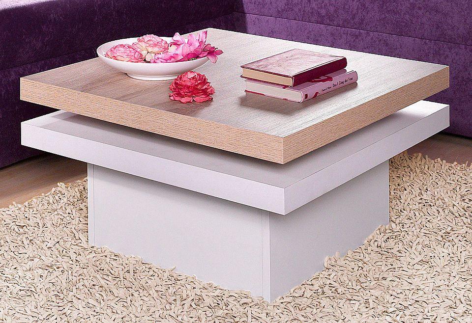 Couchtisch mit drehbarer Tischplatte Jetzt bestellen unter   - marmor wohnzimmer tische
