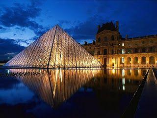 Pyramid at Louvre Museum, Paris, France