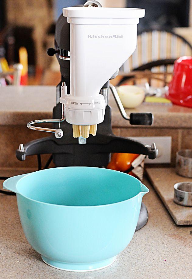 Making Homemade Fresh Pasta Noodles with Kitchenaid mixer ...