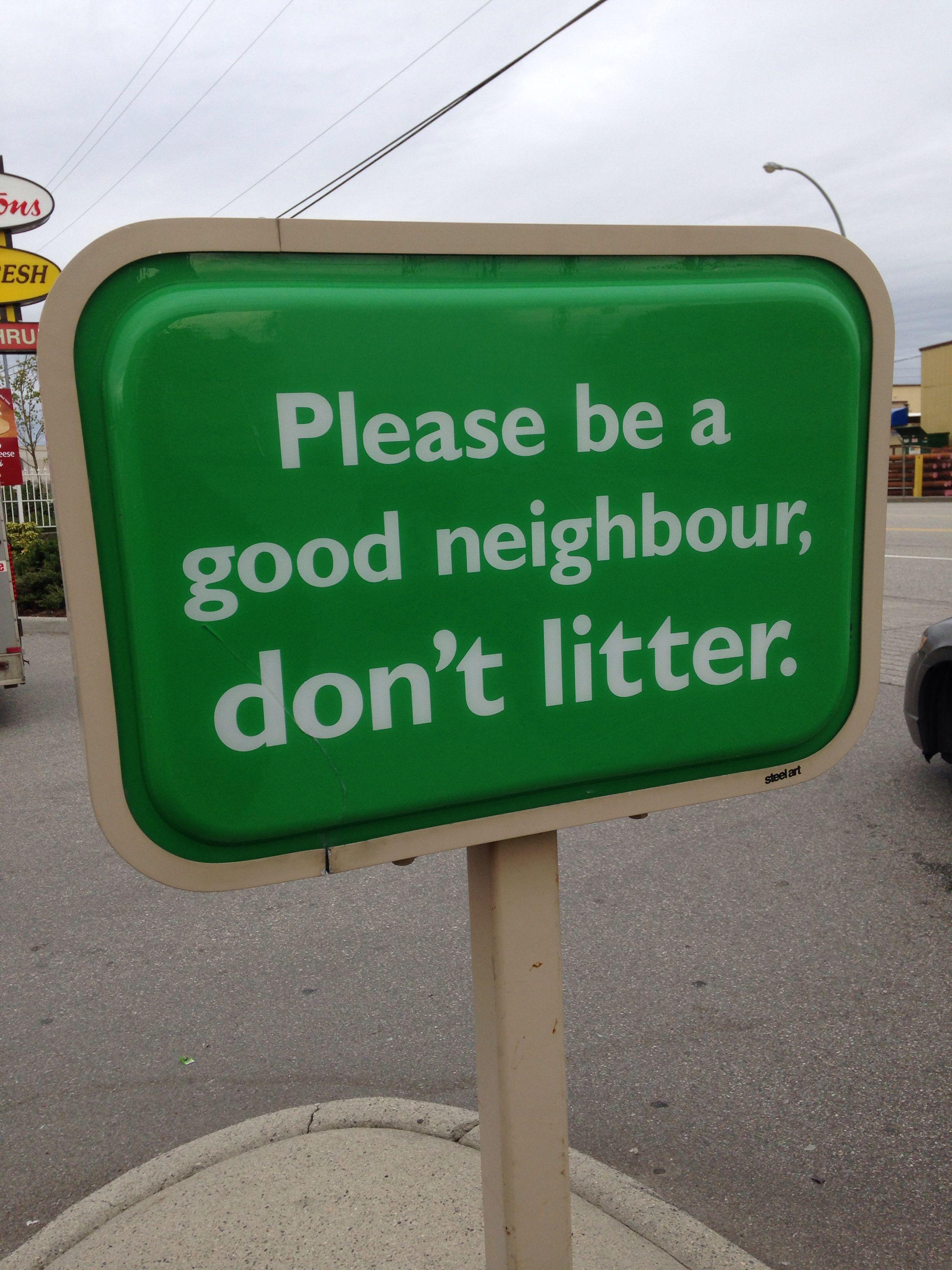 Don T Litter