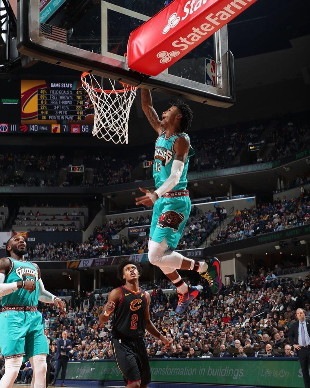 Memphis Grizzlies On Instagram Jamorant In 2020 Basketball Players Basketball Players Nba Nba Pictures
