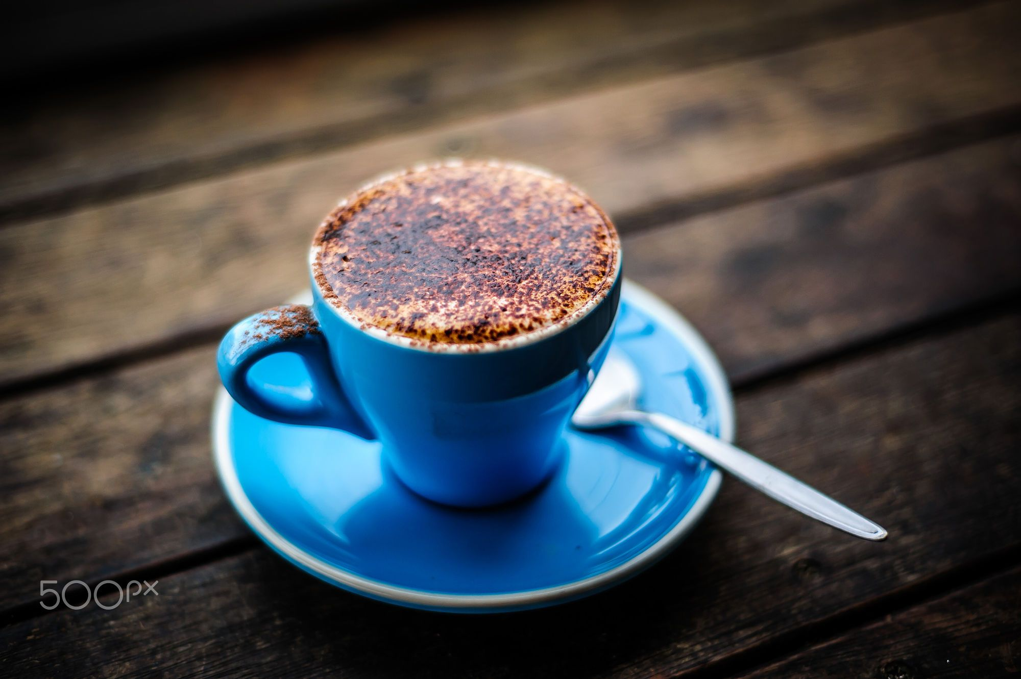 Cappuccino Cups Australia A Beautifully Brewed Cappuccino Served On A Blue Cup Fresh Coffee