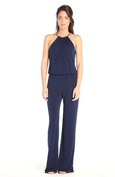 9767de989d87 Laundry by Shelli Segal Chain Detail Jersey Jumpsuit