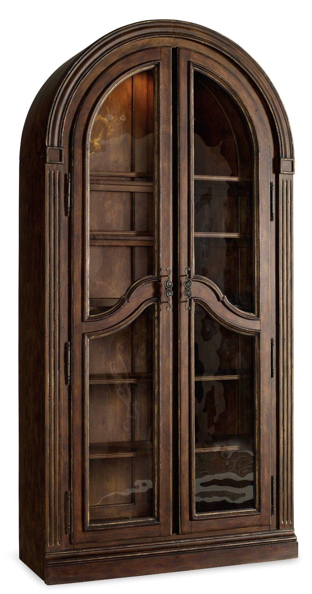 Vintage Furniture Glass Living Room Showcase Design Wood: Features: -Top Two Shelves Are Adjustable Wood-framed
