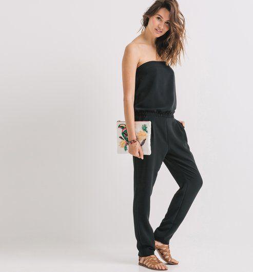 combi pantalon bustier femme dress code pinterest combinaison pantalon sans bretelles. Black Bedroom Furniture Sets. Home Design Ideas