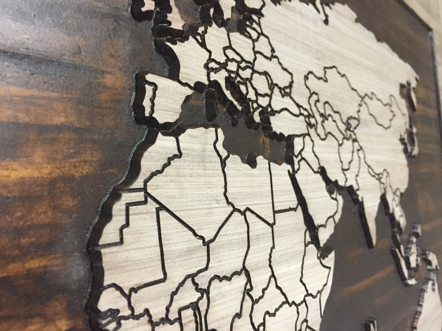 World map wood wall art carved world map home decor with walls gumiabroncs Choice Image