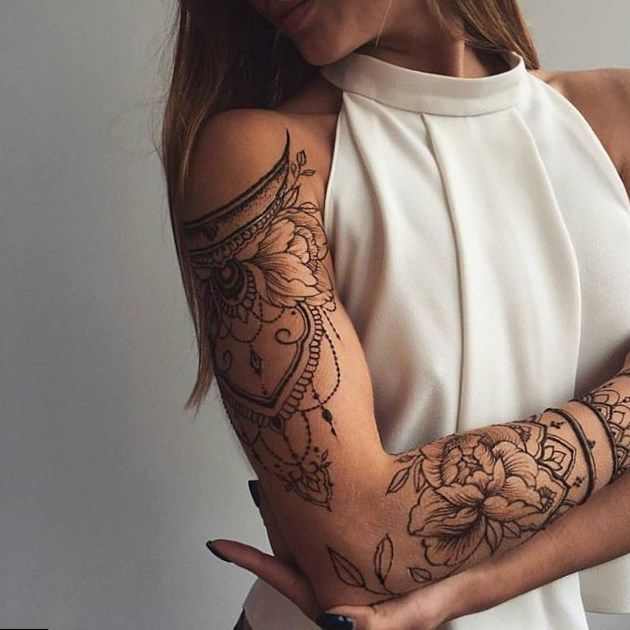 Flower Pictures Cuff Tattoo Girl Shoulder Tattoos Sleeve