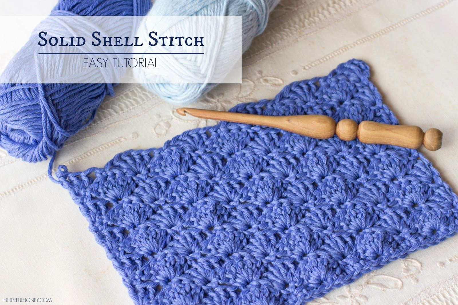 How To: Crochet The Solid Shell Stitch - Easy Tutorial | Shell ...