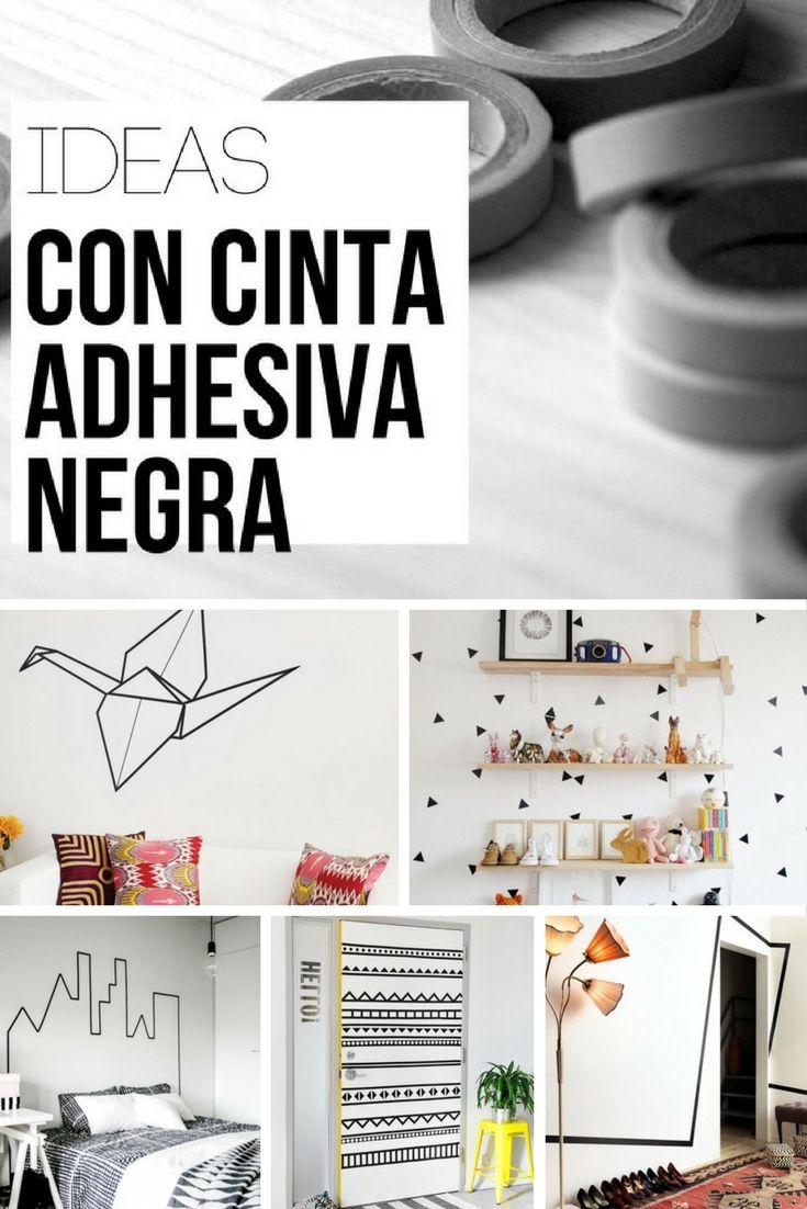 Ideas de decoración con cinta adhesiva negra