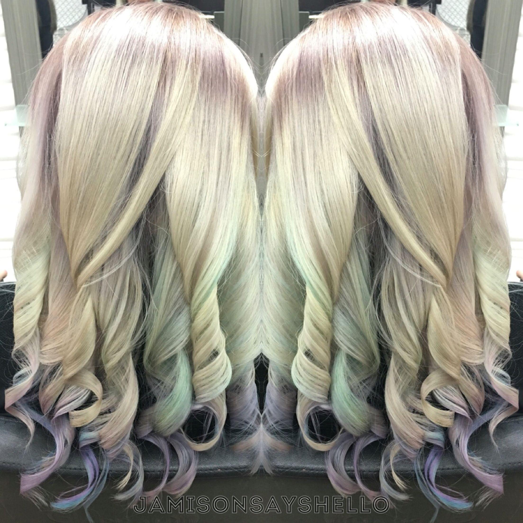 Pastel mermaid unicorn fantasy hair by jamie ramirez with dusty