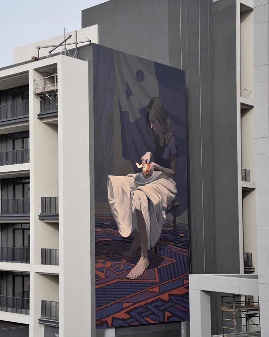 New mural by @sainer_etam and @bezt_etam in Dubai for @dubaiwalls. by powwowworldwide