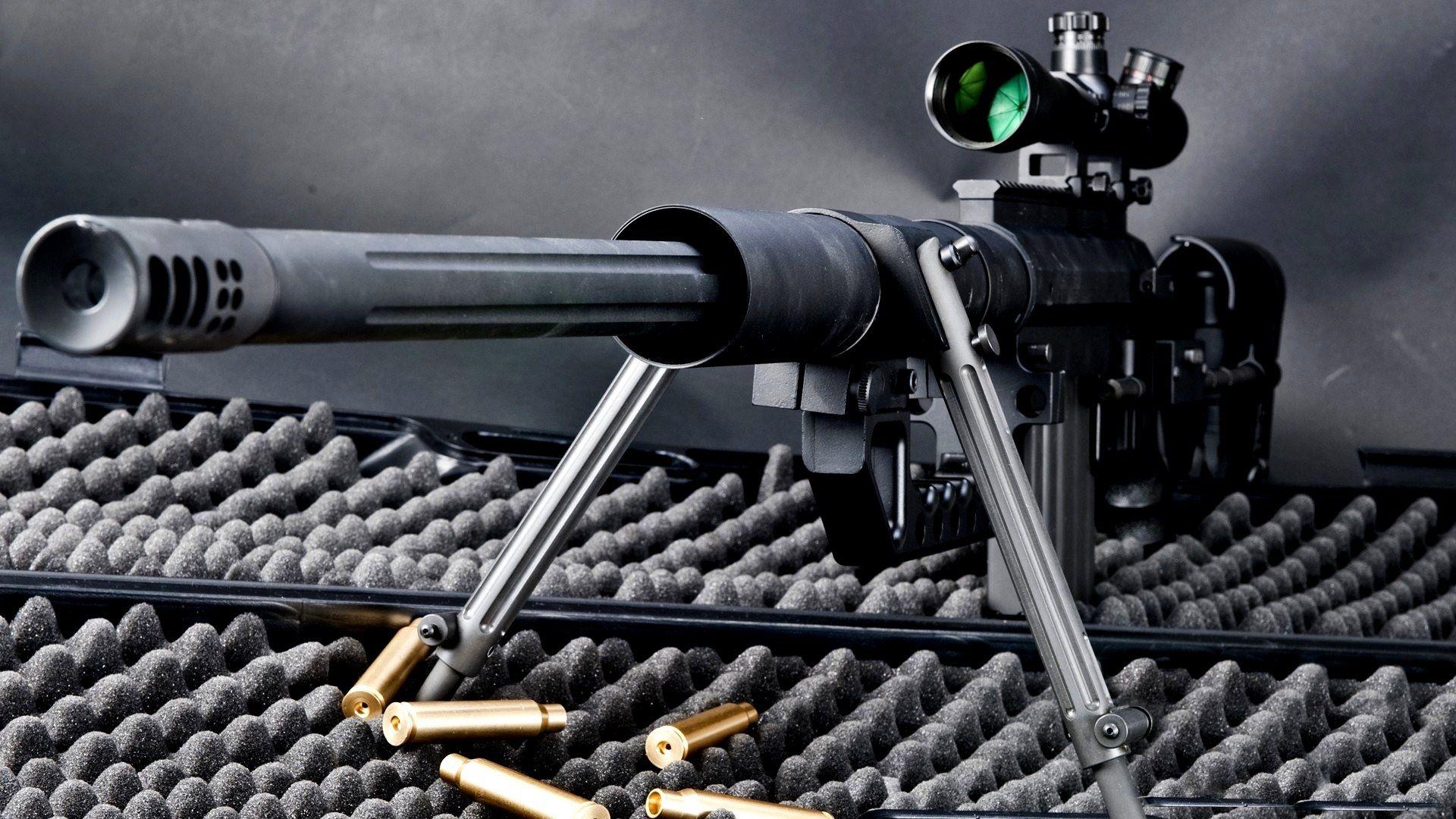 Sniper Rifle Widescreen High Definition Desktop Wallpaper Background Picture
