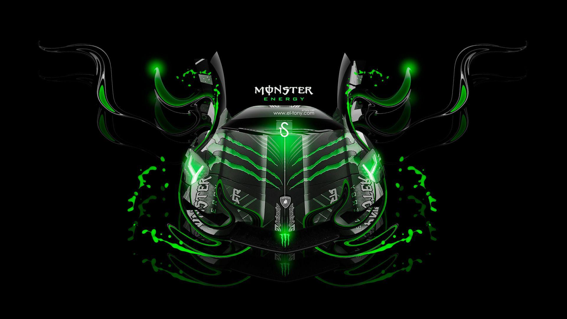 Monster Energy Lamborghini Aventador Front Fantasy Plastic Car