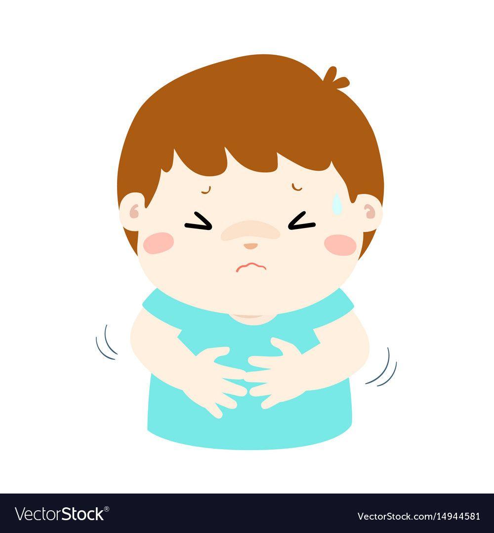 little boy having stomach ache cartoon vector image on vectorstock cartoons vector cartoon styles cartoon little boy having stomach ache cartoon