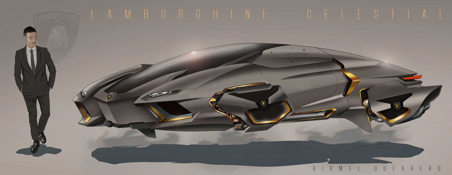 Concept Lamborghini Set In The Year 2060. And Yes Hopefully By Then We Will  Have Flying Cars.
