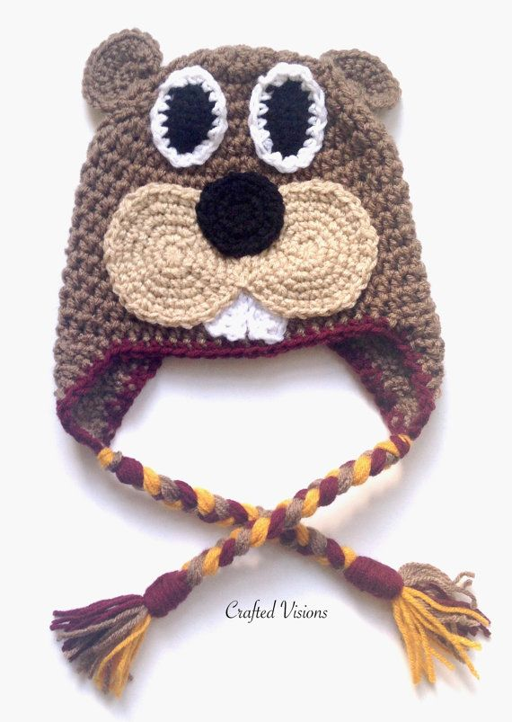 Pattern Crochet Gopher Hat Pattern All Sizes Newborn To Adult