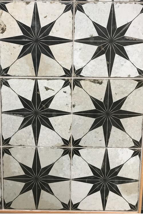 Star Pattern Tile For Bathroom Or Laundry Room Decorative Floor