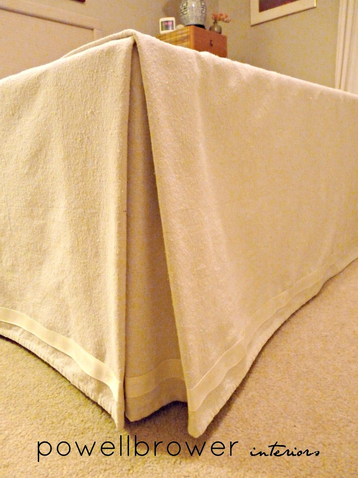 Diy Home Staging Tips Bedroom Staging Diy Headboard And  powell brower at home: One Hour {no sew} Bed Skirt   All ...