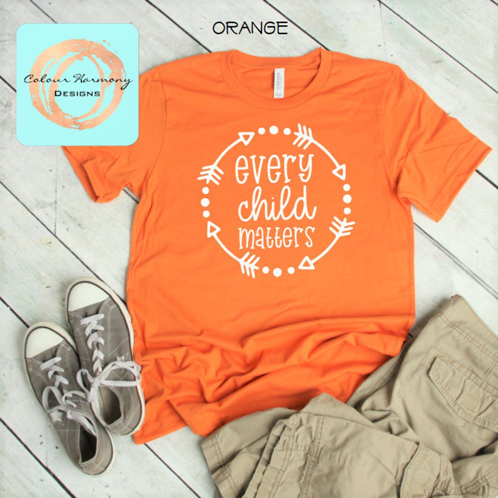 Orange Shirt Day Every Child Matters Adult Unisex Tee