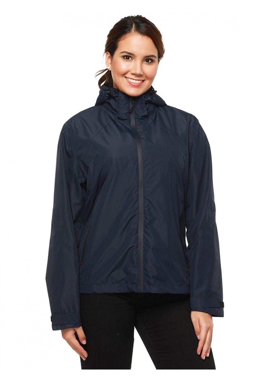 MIER Women's Waterproof Lightweight Rain Jacket with Hood ...