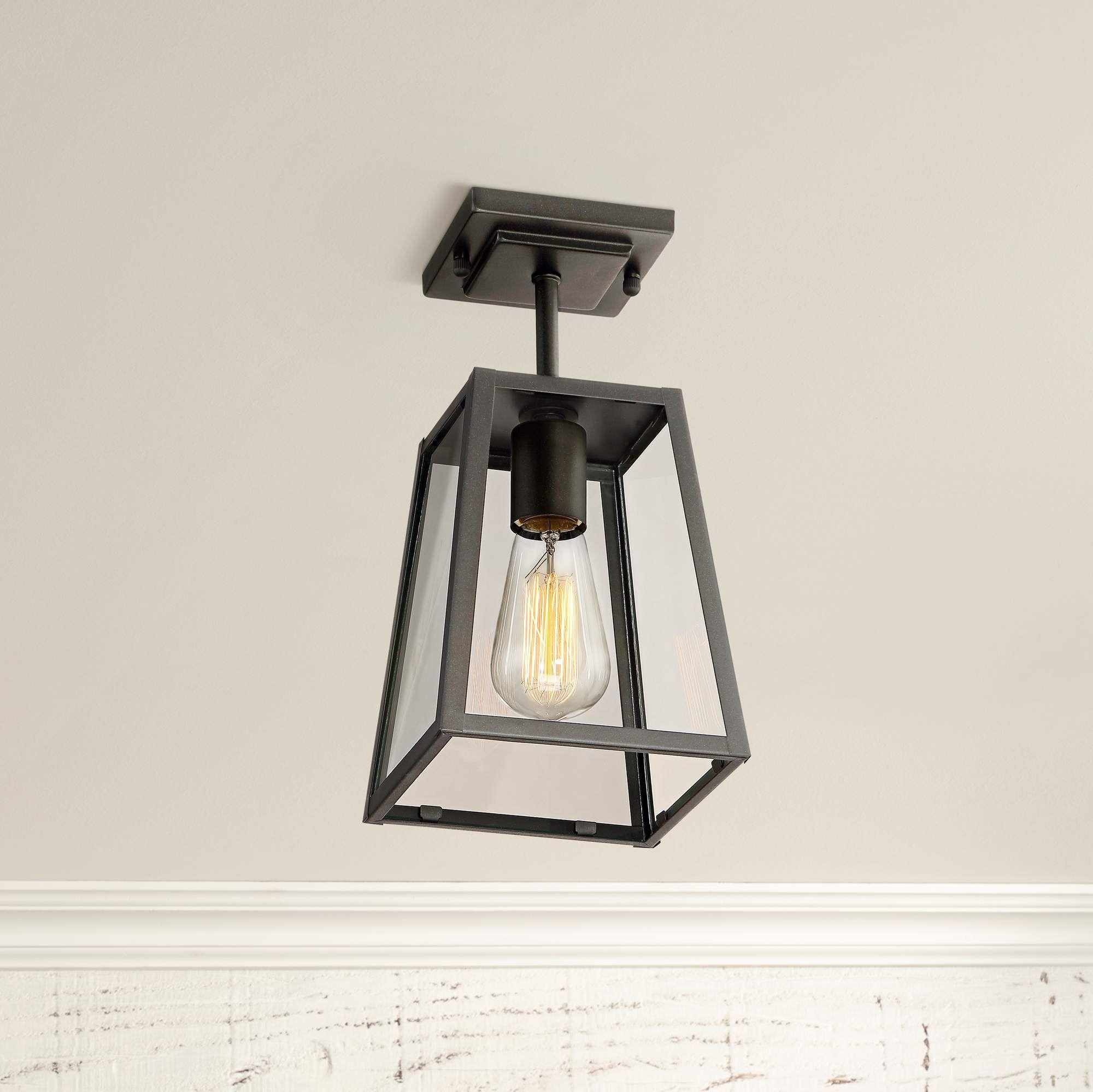 Arrington 6 Wide Mystic Black Outdoor Ceiling Light 1n481